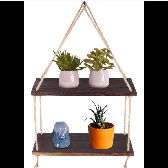 Other - 2 Tier Solid Wood Hanging plant Shelves Brand New